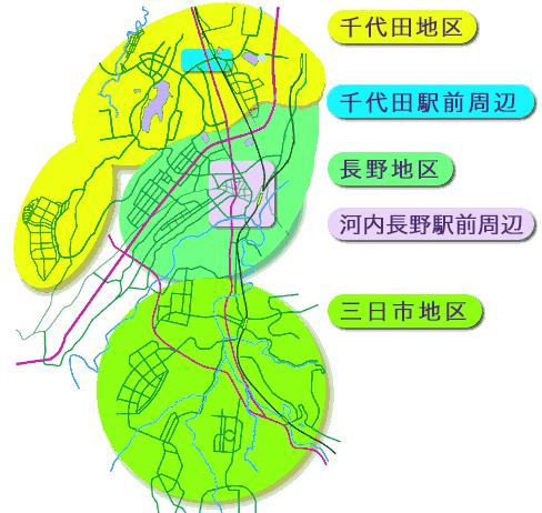 河内長野市地図